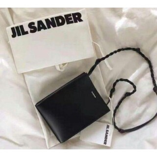 Jil Sander - 新品 JIL SANDER ジルサンダー ショルダーバッグ  ブラック