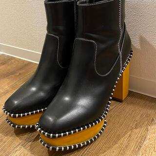 マウジー(moussy)のゆん様 moussy ウッドソールブーツ 24.5(ブーツ)