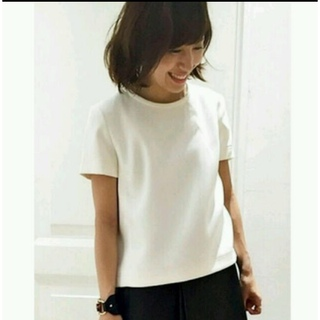 DEUXIEME CLASSE - ダブルサテンコンパクトTシャツプルオーバー  黒白2枚セット
