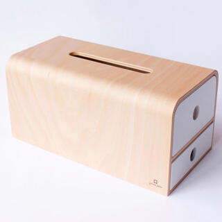 ACTUS - ヤマト工芸 ティッシュケース YK14-108-Wh ホワイト白 日本製