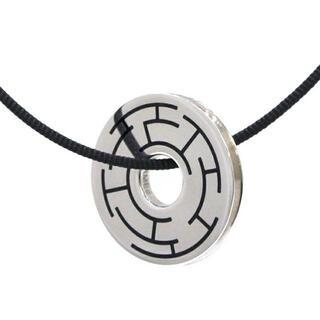 エルメス(Hermes)のエルメス サークル プレート ネックレス シルバー(ネックレス)