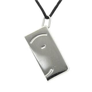エルメス(Hermes)のエルメス ネックレス シルバー ブラック チョーカー(ネックレス)