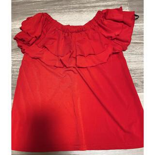 セシルマクビー(CECIL McBEE)のセシルマクビー 赤トップス(カットソー(半袖/袖なし))