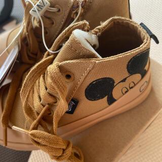 ザラキッズ(ZARA KIDS)のZARA ディズニミッキー kids ベビー 靴 スニーカー ベージュ(スニーカー)