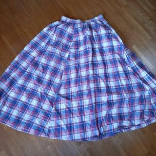 ロデオクラウンズワイドボウル(RODEO CROWNS WIDE BOWL)のロデオクラウンズ チェックフレアマキシスカート(ロングスカート)