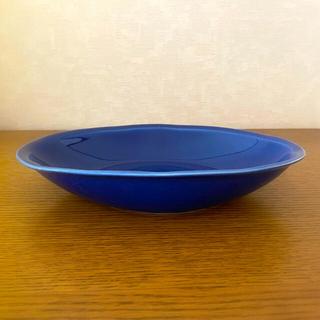 タチキチ(たち吉)の京都 たち吉謹製 あいあいカレー皿 瑠璃色 カレー長皿 1枚(食器)