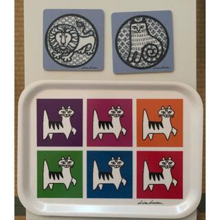 リサラーソン(Lisa Larson)のopto design × Lisa larson 3点セット トレー 廃盤品(テーブル用品)