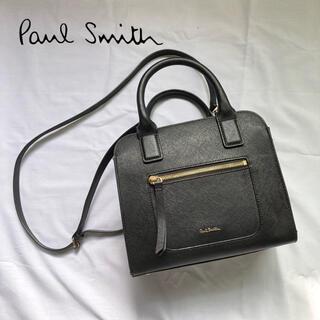 ポールスミス(Paul Smith)の【美品】2way ポールスミス ハンドバッグ ショルダーバッグ ブラック レザー(ショルダーバッグ)