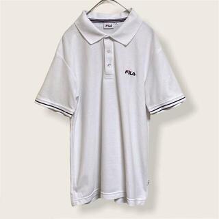 フィラ(FILA)のFILA フィラ ポロシャツ 半袖 メンズ Mサイズ ホワイト(ポロシャツ)