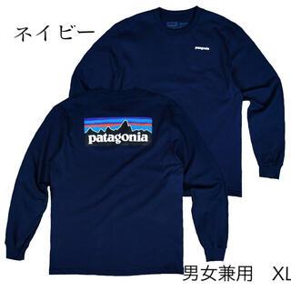 patagonia - パタゴニア 長袖 ロンT ネイビー XL アウトドア キャンプ 登山 サーフィン