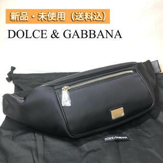 ドルチェアンドガッバーナ(DOLCE&GABBANA)の【新品・本物】Dolce&Gabbana ベルトバッグ D&G BLACK(ショルダーバッグ)