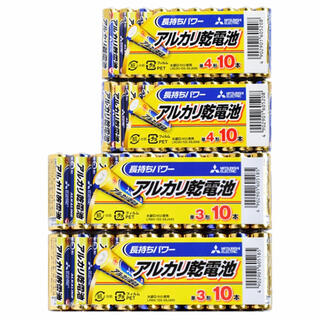 ミツビシデンキ(三菱電機)の送料無料 10本入り×4 三菱電機 単3形 単4形 アルカリ乾電池(日用品/生活雑貨)