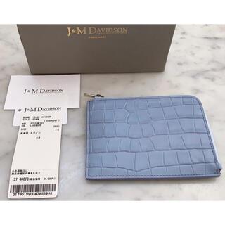 ジェイアンドエムデヴィッドソン(J&M DAVIDSON)の新品J&Mデヴィッドソン クロコ型押し ミニ財布 L字薄型財布♪(財布)