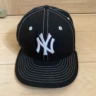 ニューエラー(NEW ERA)のニューエラ キッズ キャップ コラボ NY ブラック ホワイト(帽子)