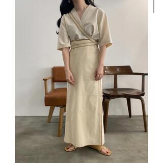 トゥデイフル(TODAYFUL)のlawgy bicolor wrap skirt(ロングスカート)