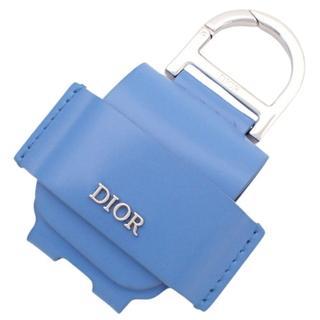 ディオール(Dior)のディオール AIRPODS ケース カーフ ブルー青 40800075969(ヘッドフォン/イヤフォン)