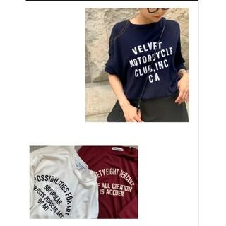 アパルトモンドゥーズィエムクラス(L'Appartement DEUXIEME CLASSE)の新品未使用L'Appartment Americanaフットボール シャツ(Tシャツ(長袖/七分))