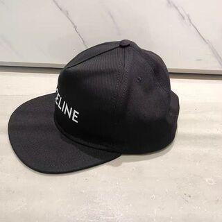 セリーヌ(celine)のCELINE セリーヌ ベースボールキャップ / コットン ブラック M(ハット)