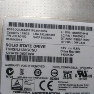 トウシバ(東芝)のSSD128(PCパーツ)