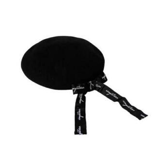 エイミーイストワール(eimy istoire)のeimy istoire ベレー帽 リボン ブラック(ハンチング/ベレー帽)