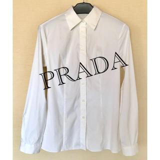 プラダ(PRADA)のPRADA プラダ ブラウス シャツ white(シャツ/ブラウス(長袖/七分))