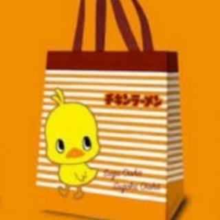 ニッシンショクヒン(日清食品)のチキンラーメン ひよこちゃんエコバッグ(キャラクターグッズ)
