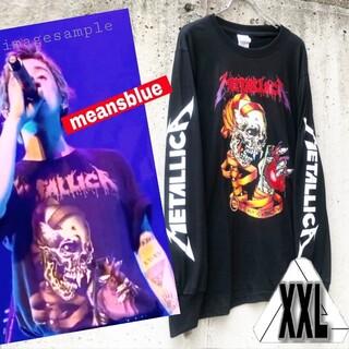 XXL◇長袖2015 metallca heart ロックT-shirt