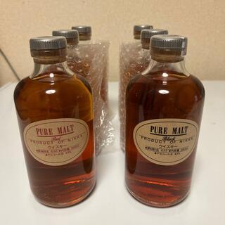 ニッカウイスキー(ニッカウヰスキー)のニッカウイスキー ピュアモルト ブラック/レッド 500ml 3セット 6本(ウイスキー)