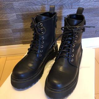 アナザーエディション(ANOTHER EDITION)のブラックブーツ サイズ22.5(ブーツ)