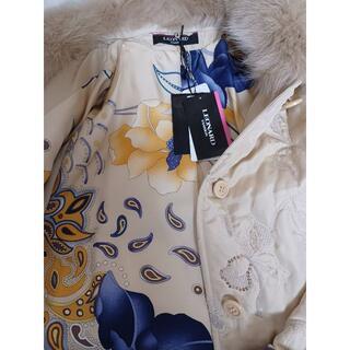 レオナール(LEONARD)の☆タグ付き未使用品☆ レオナール シルク地コート 大きいサイズ(毛皮/ファーコート)