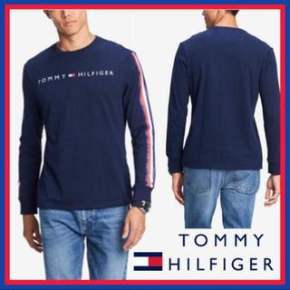 トミーヒルフィガー(TOMMY HILFIGER)の日本未入荷★トミー フィルフィガー ロゴ ロング スリーブ Tシャツ US/M(Tシャツ/カットソー(七分/長袖))