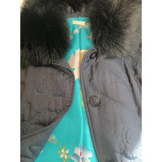 レオナール(LEONARD)の☆極美品☆ レオナール シルク地中綿コート 大きいサイズ(ダッフルコート)