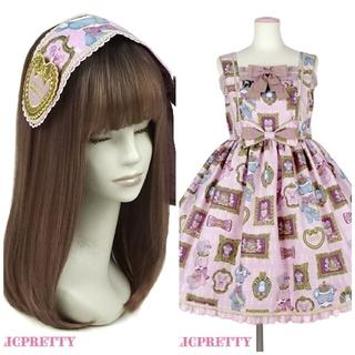 アンジェリックプリティー(Angelic Pretty)の新品ヘッドドレス付きDoll collectionジャンパースカート(ひざ丈ワンピース)