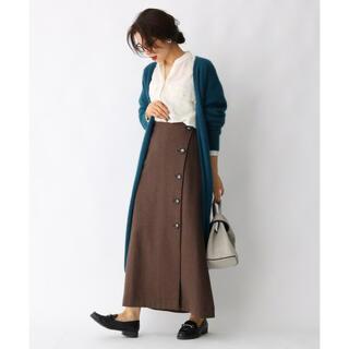 アクアガール(aquagirl)のaquagirl 15,400円 ウール混ボタンAラインスカート(ロングスカート)