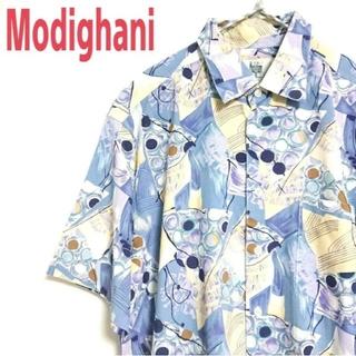 アートヴィンテージ(ART VINTAGE)のModighani モディリアーニ ビッグサイズ 総柄 ポリシャツ 半袖シャツ(シャツ)