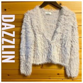 dazzlin - dazzlin(ダズリン)ショート丈ファー トップス 淡いピンクカーディガン F