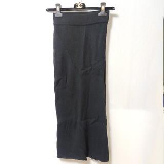 ディーゼル(DIESEL)のディーゼル   ニットロングスカート ブラック(ロングスカート)
