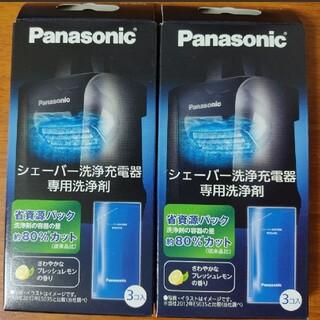 パナソニック(Panasonic)のパナソニック シェーバー洗浄充電器専用洗浄剤 ES-4L03 3個入り×2箱(その他)