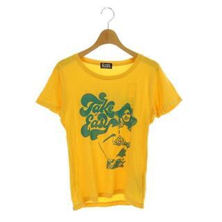 ヒステリックグラマー(HYSTERIC GLAMOUR)のヒステリックグラマー プリントTシャツ カットソー コットン F 黄色 イエロー(Tシャツ(半袖/袖なし))