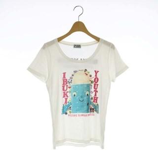 ヒステリックグラマー(HYSTERIC GLAMOUR)のヒステリックグラマー プリントTシャツ カットソー 半袖 F 白 ホワイト(Tシャツ(半袖/袖なし))