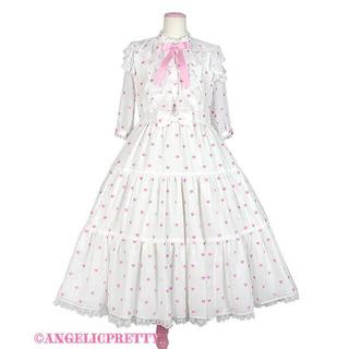 アンジェリックプリティー(Angelic Pretty)のangelic pretty petit heartワンピース シロ×ピンク(ロングワンピース/マキシワンピース)