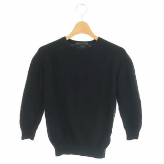 マークバイマークジェイコブス(MARC BY MARC JACOBS)のマークバイマークジェイコブス ウール混ニット セーター 七分袖 XS 黒(ニット/セーター)