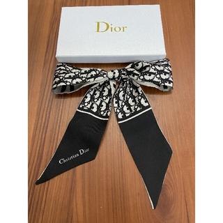 Dior - ディオール スカーフ 黒 5*90CM 美品