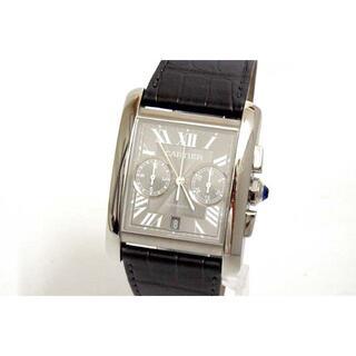 カルティエ(Cartier)の美品 CARTIER カルティエ タンクMC クロノグラフ W5330008 グ(腕時計(アナログ))