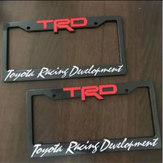 トヨタ - TRD usサイズ ナンバーフレーム ライセンスフレーム usdm 2枚セット