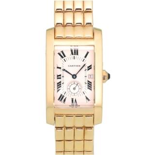 カルティエ(Cartier)のカルティエ  タンクアメリカン 金無垢 K18YG(750YG)(腕時計(アナログ))