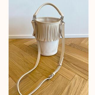 ロンハーマン(Ron Herman)の値下げ 極美品★ AYAKO Fringe Bucket Bag ivory(ショルダーバッグ)