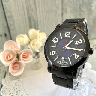 ヴィヴィアンウエストウッド(Vivienne Westwood)の【動作OK】 vivienne ヴィヴィアン 腕時計 メンズ ラウンド ブラック(腕時計(アナログ))