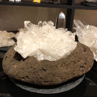 ご参考用 水晶 クラスター 浄化セット (置物)
