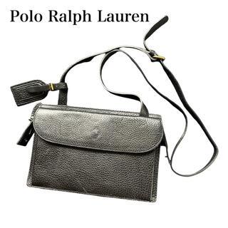 ポロラルフローレン(POLO RALPH LAUREN)のPolo Ralph Lauren レザー ショルダーバッグ ブラック (ショルダーバッグ)